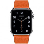 Apple Watch Hermès Series 5, 44mm Feu Stainless Steel Case with Single Tour, GPS + Cellular - умен часовник от Apple