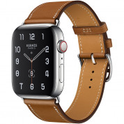 Apple Watch Hermès Series 5, 44mm Fauve Stainless Steel Case with Single Tour, GPS + Cellular - умен часовник от Apple 1
