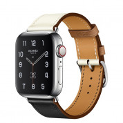 Apple Watch Hermès Series 5, 44mm Noir/Blanc/Gold Stainless Steel Case with Single Tour, GPS + Cellular - умен часовник от Apple 1