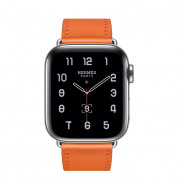 Apple Watch Hermès Series 5, 44mm Orange Stainless Steel Case with Single Tour, GPS + Cellular - умен часовник от Apple