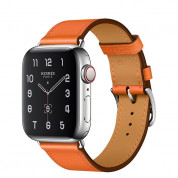 Apple Watch Hermès Series 5, 44mm Orange Stainless Steel Case with Single Tour, GPS + Cellular - умен часовник от Apple 1
