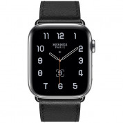 Apple Watch Hermès Series 5, 44mm Noir Stainless Steel Case with Single Tour, GPS + Cellular - умен часовник от Apple