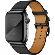 Apple Watch Hermès Series 5, 44mm Noir Space Black Stainless Steel Case with Single Tour, GPS + Cellular - умен часовник от Apple 1