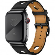 Apple Watch Hermès Series 5, 44mm Noir Space Black Stainless Steel Case with Single Tour Rallye, GPS + Cellular - умен часовник от Apple