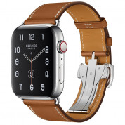 Apple Watch Hermes Series 5, 44mm Fauve Stainless Steel Case with Single Tour Deployment Buckle, GPS + Cellular - умен часовник от Apple 1