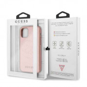 Guess Saffiano 4G Circle Logo Leather Hard Case for iPhone 11 Pro (rose gold) 5