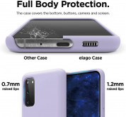 Elago Silicone Case for Samsung Galaxy S20 (lavender) 3