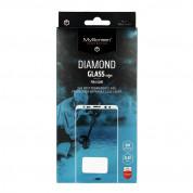 MyScreen Protector Diamond Glass Edge Full Glue - стъклено защитно покритие за целия дисплей на iPhone 8, iPhone 7, iPhone SE (2020) (прозрачен-черен)