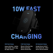 Elago Wireless Car Charger with Auto Clamping Car Mount 10W (black) 6