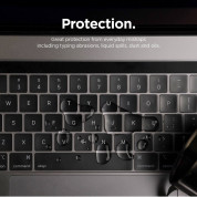 Elago Keyboard Skin - силиконов протектор за клавиатурата на MacBook Pro 16, MacBook 13, MacBook 15 with Touch Bar (с прав Enter, US стандарт) (прозрачен-мат) 6