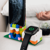 SwitchEasy Blocks Charging Stand - поставка (докинг станция) тип лего за iPhone и Apple Watch (бял) 1