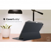 SwitchEasy CoverBuddy Case - поликарбонатов кейс (с отделение за Apple Pencil 2) за iPad Pro 11 (2018) (съвместим с Apple Smart Keyboard, Magic Keyboard, Smart Folio) (тъмносив) 12