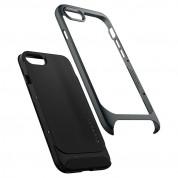 Spigen Neo Hybrid Case - хибриден кейс с висока степен на защита за iPhone SE (2020), iPhone 8, iPhone 7 (тъмносив) 2