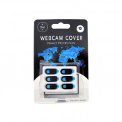 WebCam Cover for laptops, iPhone and mobile devices (6 pack) (black)