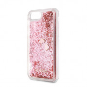 Guess Liquid Glitter Hearts Case for iPhone SE (2020), iPhone 8, iPhone 7 (rose gold) 2