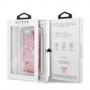 Guess Liquid Glitter Hearts Case for iPhone SE (2020), iPhone 8, iPhone 7 (rose gold) 6