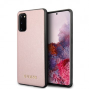 Guess Iridescent Leather Hard Case for Samsung Galaxy S20 (rose gold)