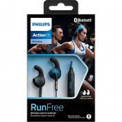 Philips SHQ6500BL ActionFit Bluetooth In-Ear Sports Headset (blue) 4