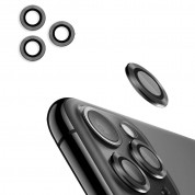 USAMS Metal Camera Lens Glass Film for Apple iPhone 11 Pro Max (space gray)