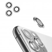 USAMS Metal Camera Lens Glass Film for Apple iPhone 11 Pro Max (silver)