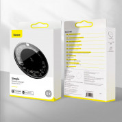 Baseus Simple Wireless Charger (WXJK-BA02) - поставка (пад) за безжично зареждане с технология за бързо зареждане за Qi съвместими устройства (черен) 12