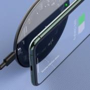 Baseus Simple Wireless Charger (WXJK-BA02) - поставка (пад) за безжично зареждане с технология за бързо зареждане за Qi съвместими устройства (черен) 9