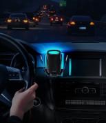 Baseus Milky Way Wireless Charger Car Vent Mount - поставка за радиатора на кола с безжично зареждане за Qi съвместими смартфони (сребрист) 11