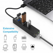 TeckNet EHU01043BA02-V2 USB 3.0 HUB Ethernet Network Adapter - USB адаптер с USB хъб и Ethernet порт 5