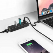 TeckNet EHU01043BA02-V2 USB 3.0 HUB Ethernet Network Adapter - USB адаптер с USB хъб и Ethernet порт 1