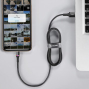 Baseus Halo USB Lightning Cable (CALGH-E01) - Lightning USB кабел за Apple устройства с Lightning порт (300 см) (черен) 5