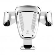 Baseus Gravity Car Mount - поставка за радиатора на кола за смартфони с дисплеи до 6 инча (сребриста) 1