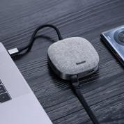 Baseus USB-C Fabric Series Multifunctional Hub (CAHUB-DX0G) - мултифункционален хъб за свързване на допълнителна периферия за устройства с USB-C (тъмносив) 5