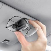 Baseus Platinum Vehicle Eyewear Clip - закачалка със самозалепващо фолио за автомобили и гладки повърхности (черен) 5