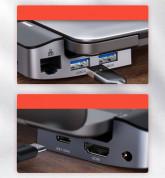 Baseus Armor Age USB-C Bracket Multifunctional Hub (CAHUB-AJ0G) - мултифункционален хъб за свързване на допълнителна периферия за MacBook Pro 13 (2016-2020), MacBook Pro 15 (2016-2020), MacBook Pro 16 (2020) (тъмносив) 10