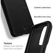 Spigen Ciel Leather Brick Case - дизайнерски кожен кейс за Samsung Galaxy S20 Plus (черен) 9