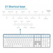 Macally Ultra Slim USB keyboard with 2 USB Ports for Mac (white) 8