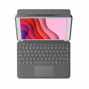 Logitech Combo Touch - безжична клавиатура и тракпад, с кейс и  поставка за iPad 7 (2019), iPad 8 (2020) (черен) 2