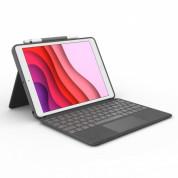 Logitech Combo Touch - безжична клавиатура и тракпад, с кейс и  поставка за iPad 7 (2019), iPad 8 (2020) (черен) 1