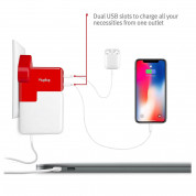 TwelveSouth PlugBug Duo All-in-one MacBook global travel adapter - адаптер за MacBook и захранване за iPad (с преходници за цял свят) 5