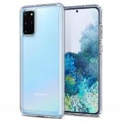 Spigen Crystal Hybrid Case - хибриден кейс с висока степен на защита за Samsung Galaxy S20 Plus (прозрачен)
