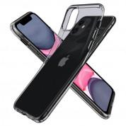 Spigen Liquid Crystal Case - тънък силиконов (TPU) калъф за iPhone 11 (сив) 6