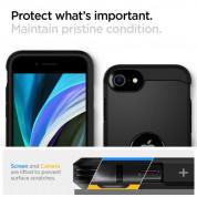 Spigen Tough Armor Case - хибриден кейс с най-висока степен на защита за iPhone SE (2020) (черен) 6