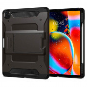 Spigen Tough Armor Pro Case - хибриден кейс с най-висока степен на защита за iPad Pro 12.9 (2020) (тъмнозелен)