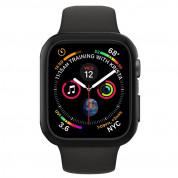 Spigen Thin Fit Case - качествен твърд кейс за Apple Watch 44 mm (черен) 4