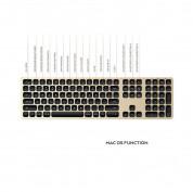 Satechi Aluminum Wireless Keyboard with Numeric Keypad - качествена алуминиева безжична блутут клавиатура за Mac (златист) 7