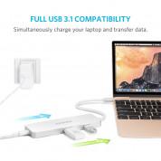 Anker Premium USB-C Hub With HDMI 4К And Power Delivery - мултифункционален хъб за свързване на допълнителна периферия за компютри с USB-C (сребрист)  1