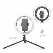 4smarts Tripod with LED Light (19cm) (black)