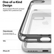 Ringke Fusion Crystal Case - хибриден удароустойчив кейс за iPhone SE (2020), iPhone 8, iPhone 7 (сив) 3