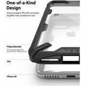 Ringke Fusion X Case - хибриден удароустойчив кейс за iPhone SE (2020), iPhone 8, iPhone 7 (черен-карбон) 1