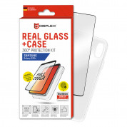 Displex Real Glass 10H Protector 3D Full Cover FPS with TPU Case for Samsung Galaxy S20 Plus, Galaxy S20 Plus 5G (black)